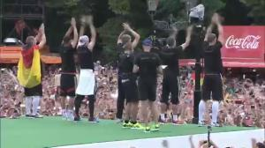 German team shows off World Cup to cheering crowds in Berlin